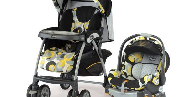 Chicco Cortina Miro Black and Yellow Stroller Car Seat Travel System