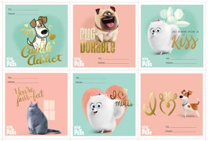 Secret Life of Pets Valentine's Day printable cards