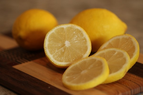 Fresh lemons citrus fruit