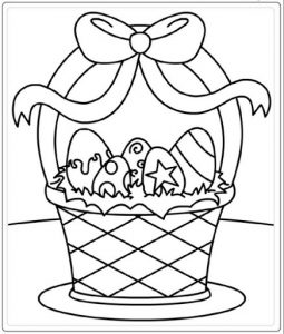 Easter Basket free printable Easter coloring pages for kids