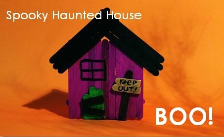 Haunted House Halloween craft for Kids