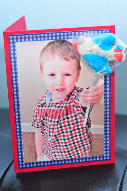 DIY Kids Lollipop Photo Valentine Card Ideas Craft - take your own photos and insert a lollipop!