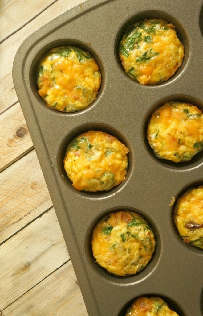 Mini Bacon and Egg Breakfast Frittatas, Made In a Muffin Pan
