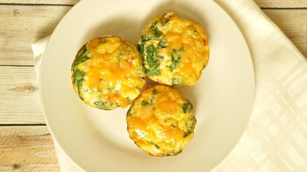 Mini Turkey Bacon, Egg and Veggie Frittatas
