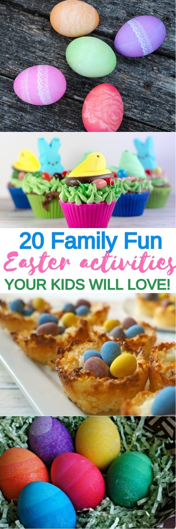 20 Easter Activities for Kids - Easter Treats, Egg Decorating Ideas, and Easter Printables | easter crafts for kids | what to do for easter | easter games and activities | honeyandlime.co