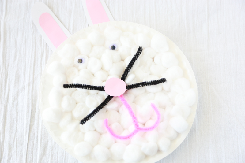 Paper plate Easter bunny craft - Easter fun
