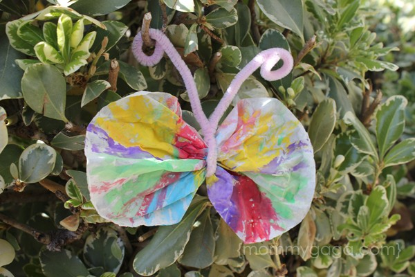 coffee filter butterfly spring kids craft