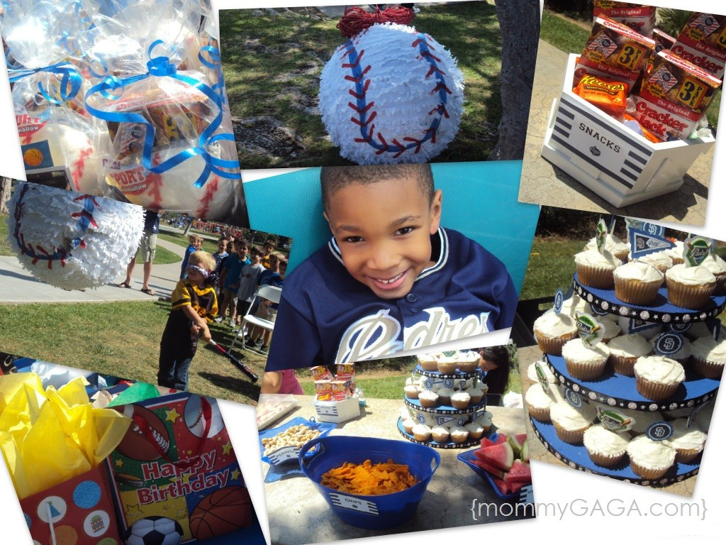 San Diego Padres Baseball Birthday Party