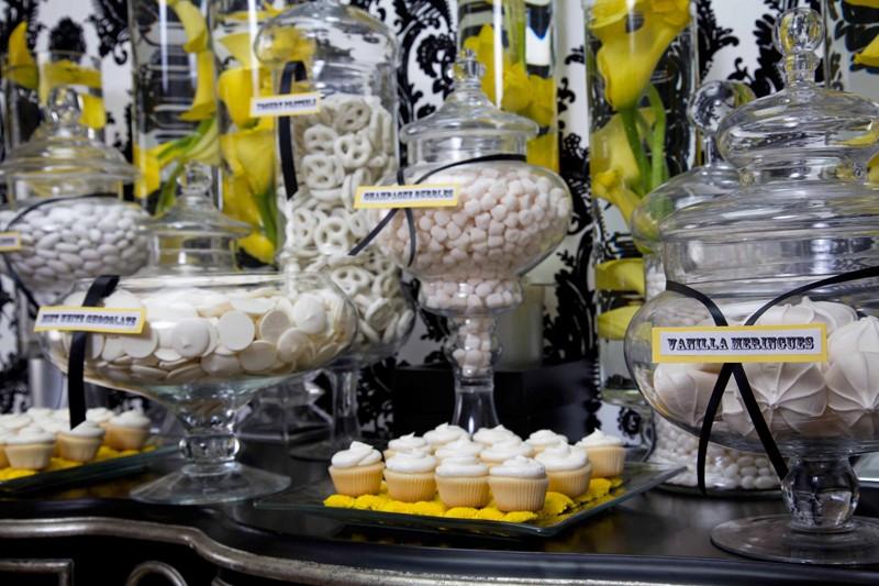 Black White Yellow Candy Buffet Aileen Tran