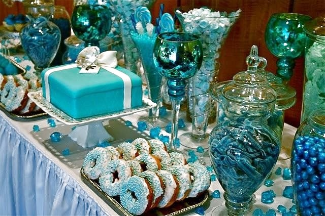 Blue Candy Buffet examples