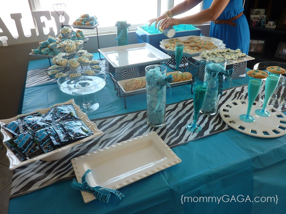 Zebra blue unique baby shower theme for boys honey lime - Popular boy baby shower themes ...