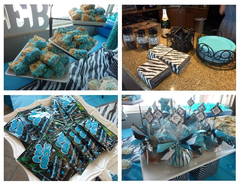 Zebra + Blue = Unique Baby Shower Theme for Boys!