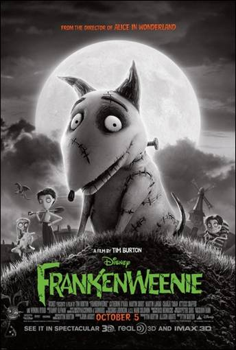 Disney Tim Burton Frankenweenie Movie