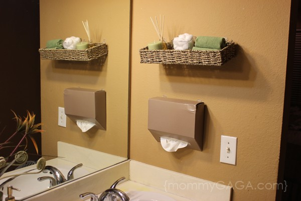 Pleasing Diy Bathroom Ideas Floating Wall Decor And Kleenex Hand Towels Largest Home Design Picture Inspirations Pitcheantrous