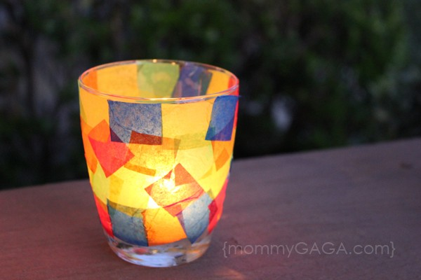 how to make stained glass votive candle holder craft