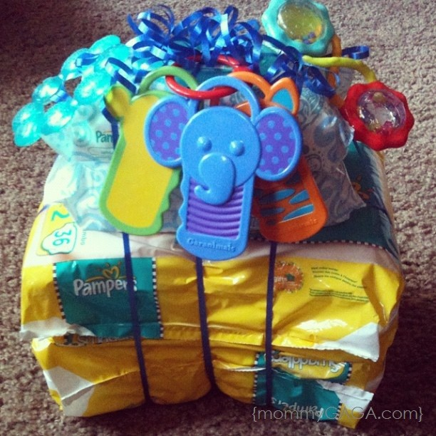 Simple Mom Hacks Pampers Diaper Tower Baby Shower Gift