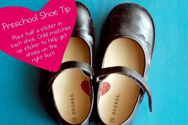Preschool Shoe Sticker Tip for Kids