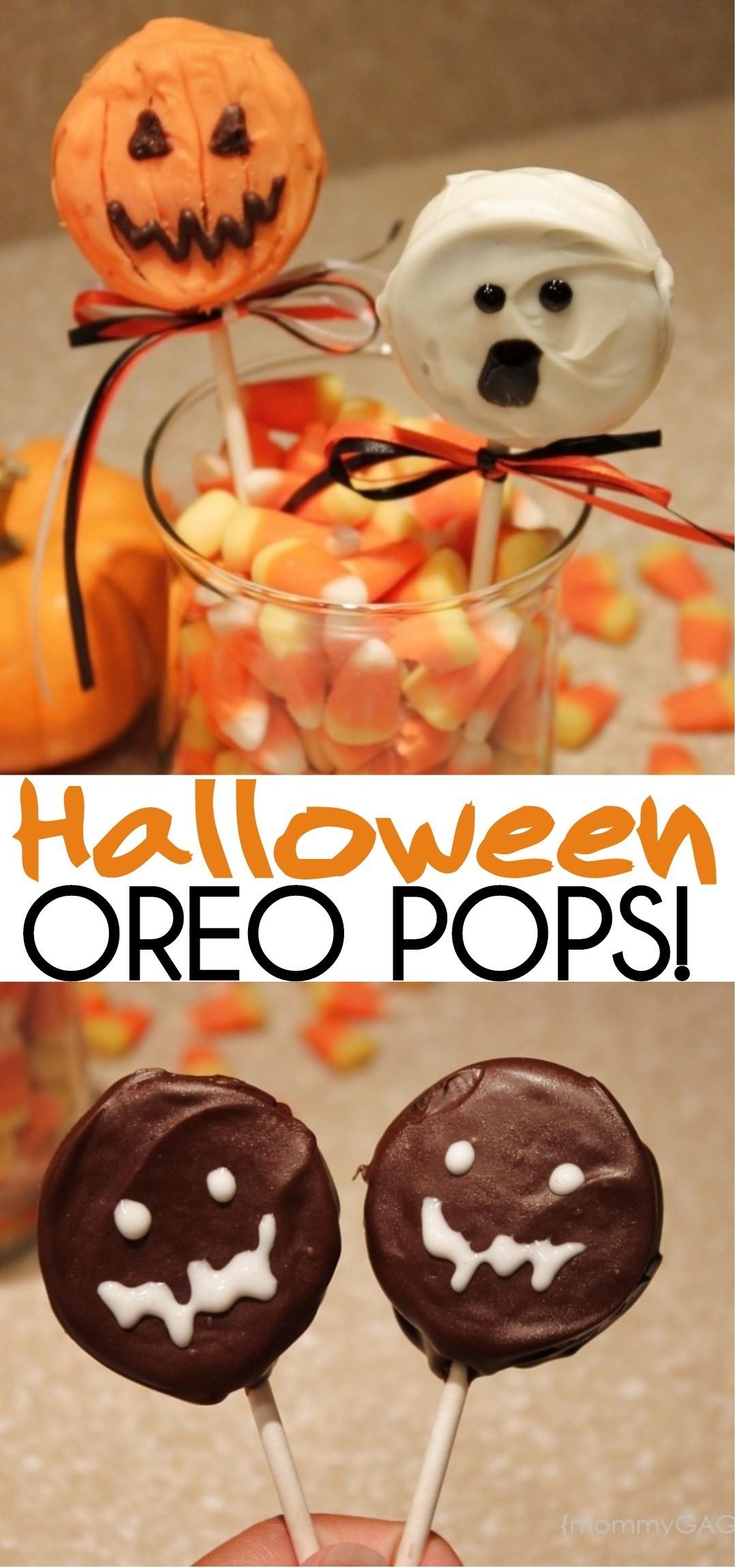 Cute Halloween Makeup Ideas: Cute Halloween Oreo Pops: Pumpkins, Ghosts And Monsters
