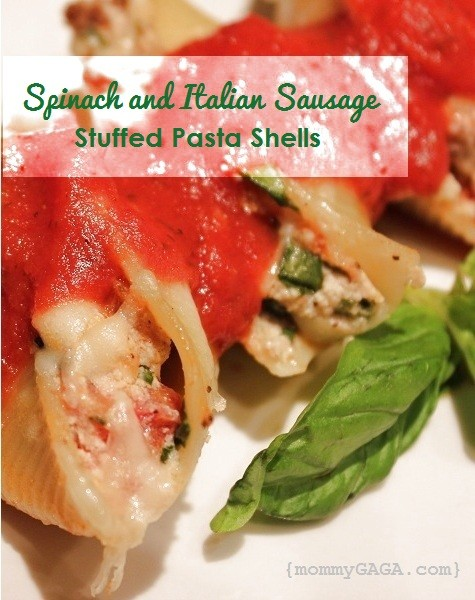 Italian Sausage Spinach Stuffed Pasta Shell