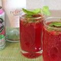 Raspberry Mint Moscato Sparklers