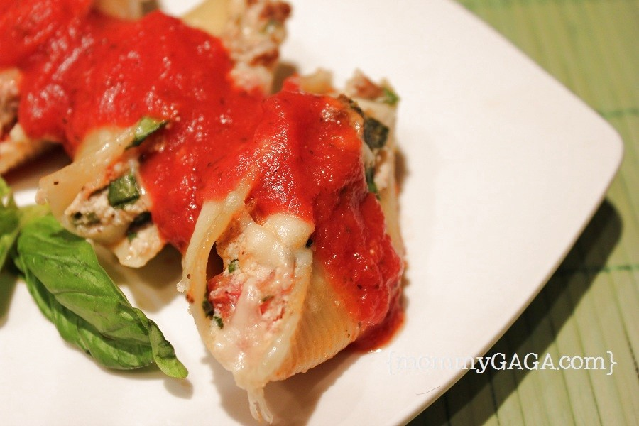 Spinach and Italian Sausage Stuffed Shells Recipe - Honey + Lime