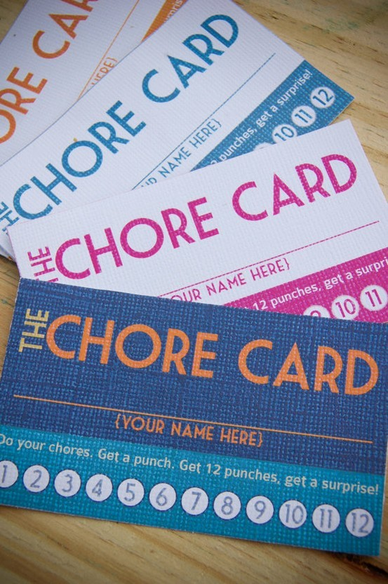Chore Punch Cards