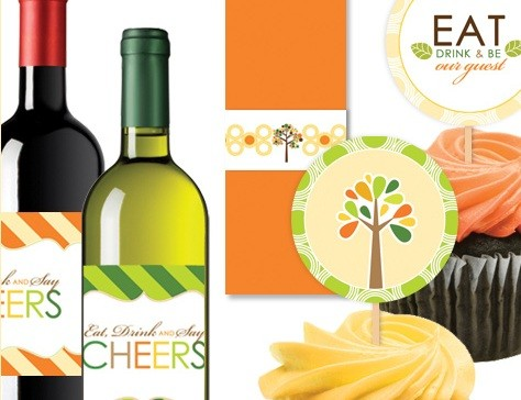 Thanksgiving printables by Hostess with the Mostess, party and wine tags