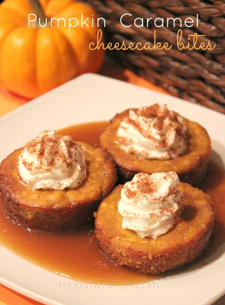 Pumpkin Caramel Cheesecake bites, dessert recipe