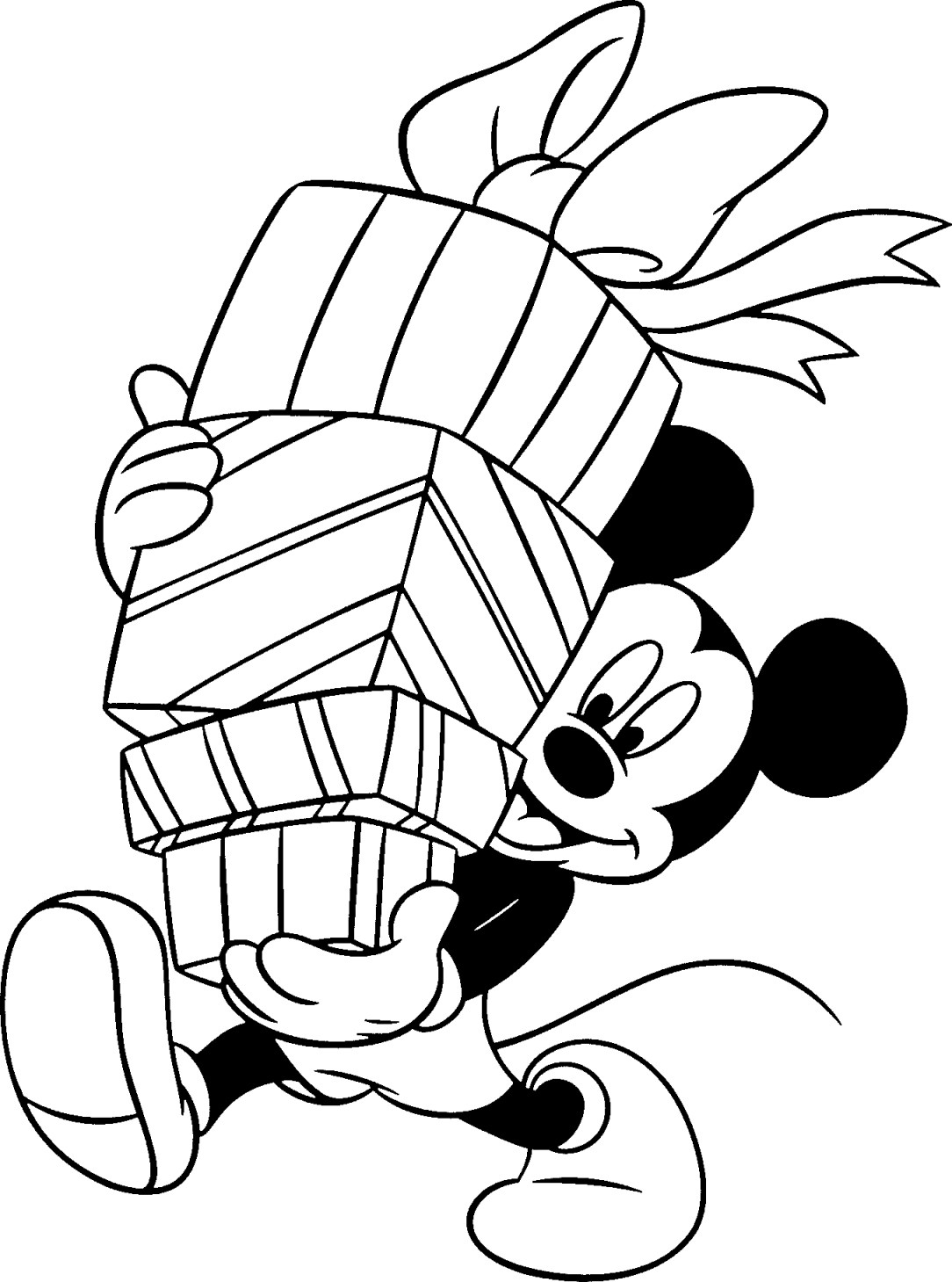Free disney christmas printable coloring pages for kids