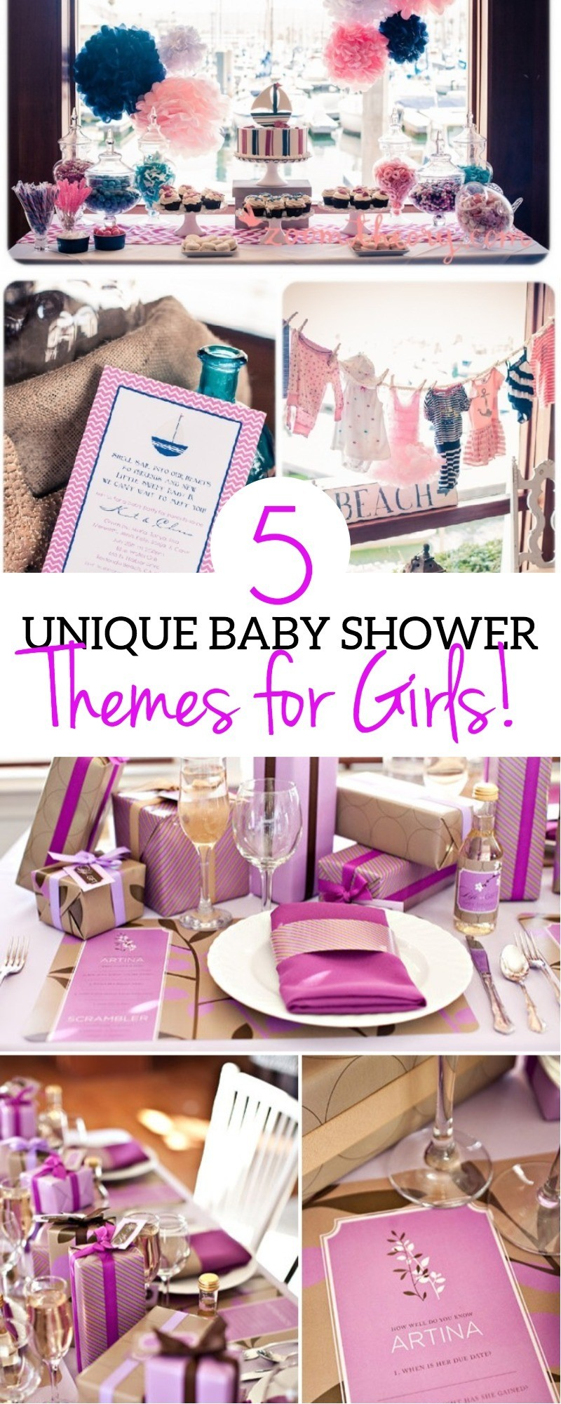 5 Unique Baby Shower Ideas For Girls And Cute Themes   These Are Beautiful  | Babyshower