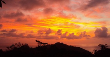 Costa Rica Orange Yellow Sky Sunset