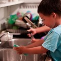 Kids chores, doing the dishes