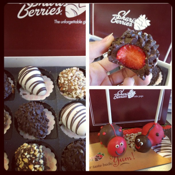 Valentines Day Chocolate Dipped Strawberries and Love Bug Cake Pops