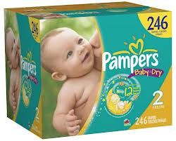 Pampers Baby Dry Diapers, Size 2