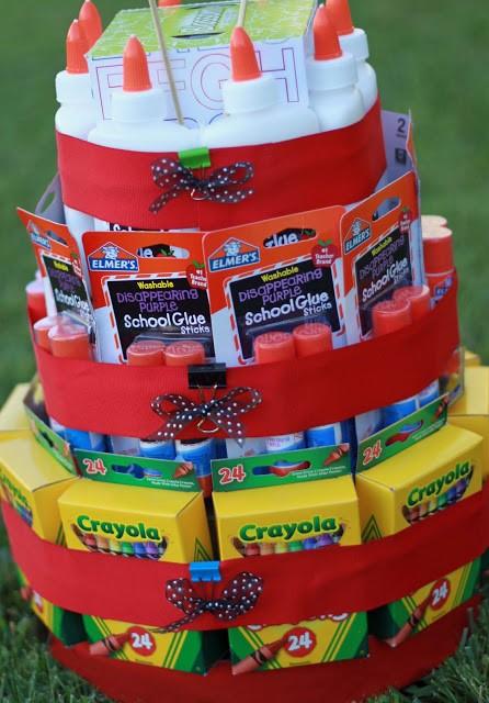 Back to school supply cake teacher gift