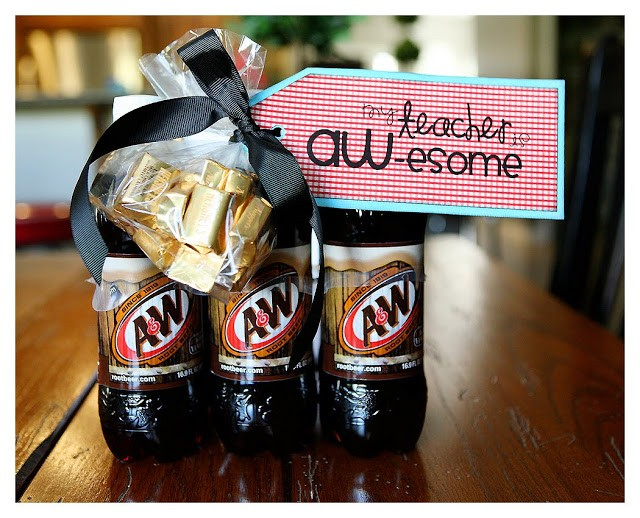 DIY Teacher Appreciation Gifts - A&W Root Beer
