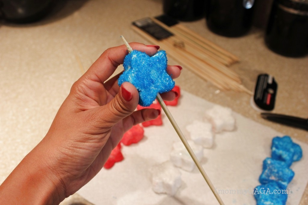 Marshmallow star on a stick