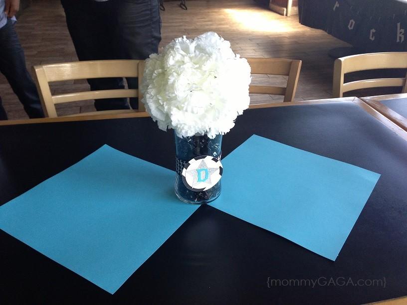 Rock A Bye Baby Shower Simple Flower Centerpiece