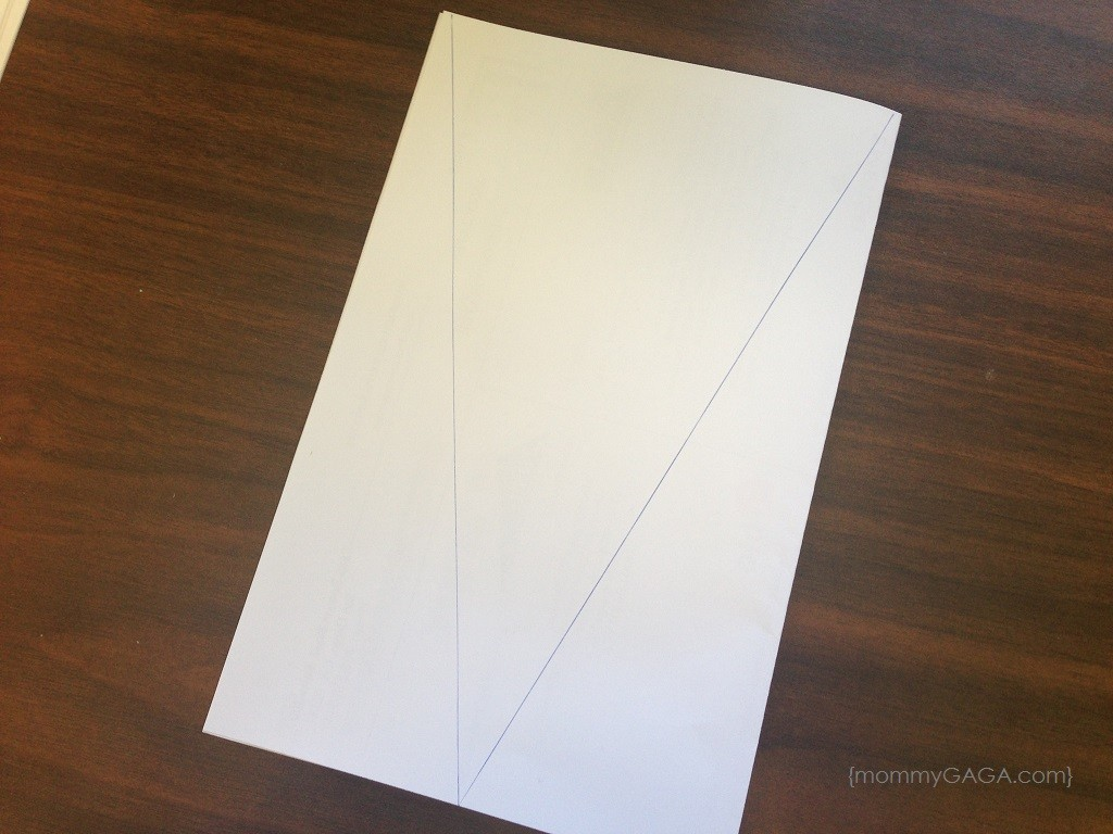 make each pennant paper for birthday banner