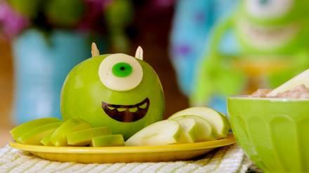 Disney Pixar Monsters University Mike Wazowski Apple Snack Party Appetizer