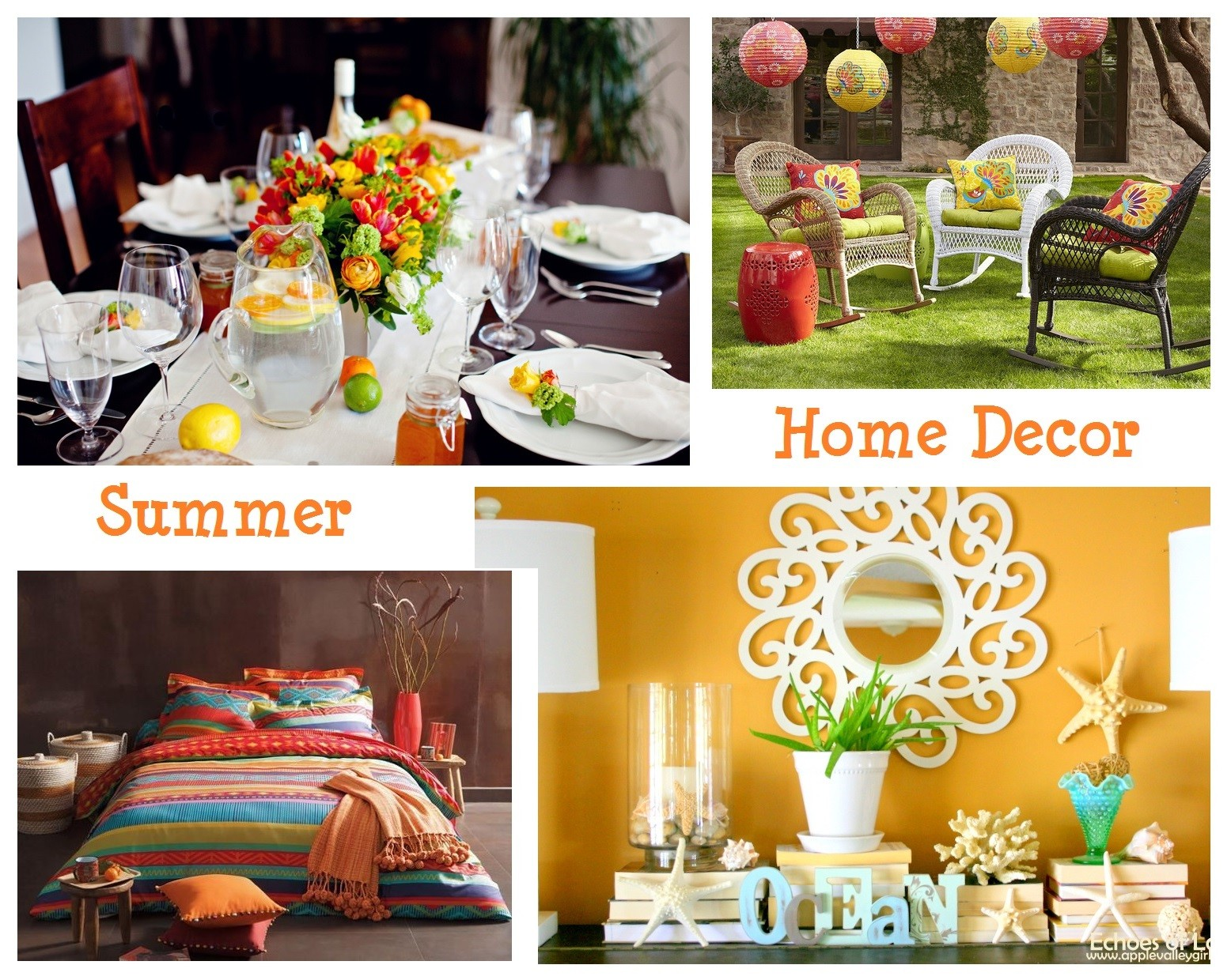Summer Decorating Ideas 5 simple summer home decor ideas for any space - honey + lime