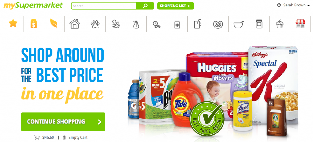 Save on Household Products at MySuperMarket.com