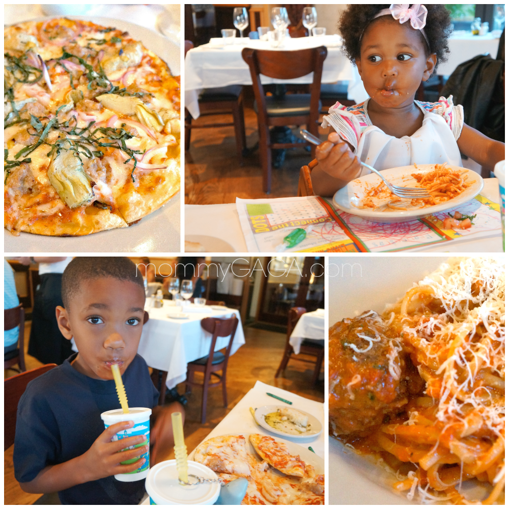 Kids eating at Mia Francesca, San Diego