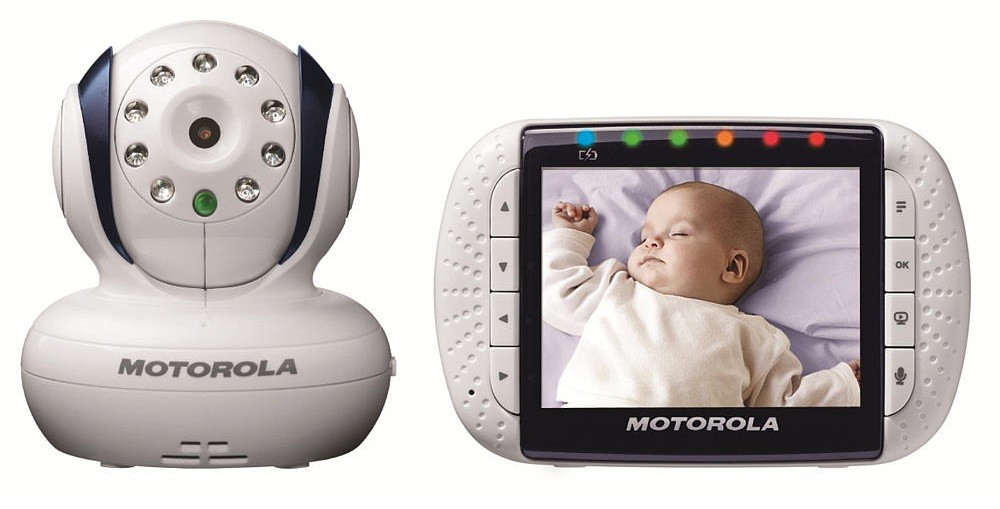 keep an eye on baby motorola video baby monitor wireless and portable honey lime. Black Bedroom Furniture Sets. Home Design Ideas