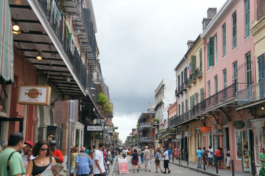 Bourbon Street, French Quarter, New Orleans, Louisiana