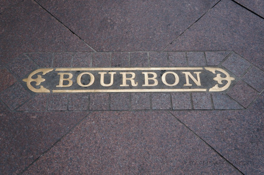 Bourbon Street plate sign, New Orleans