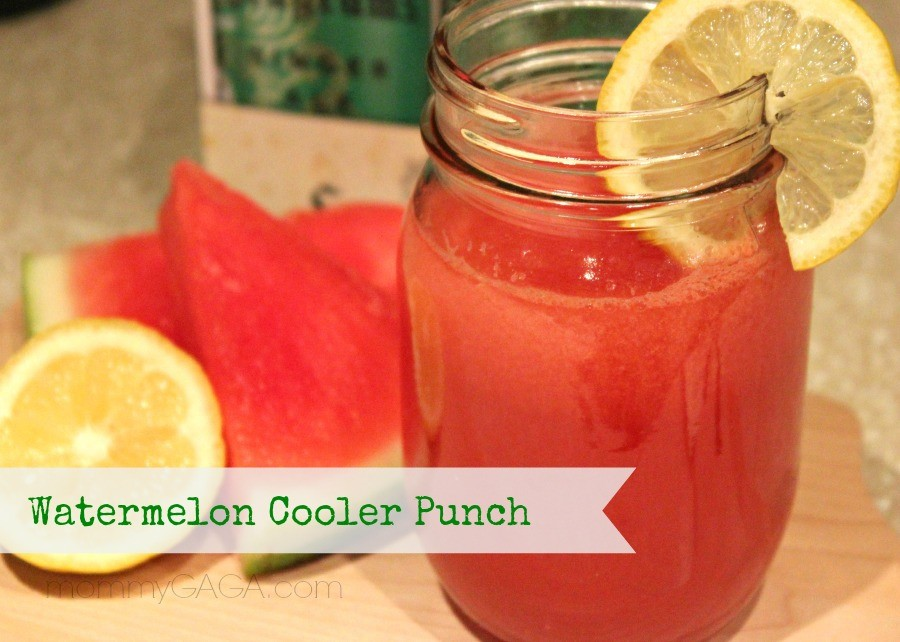 Watermelon cooler punch cocktail with Seagram's Ginger Ale