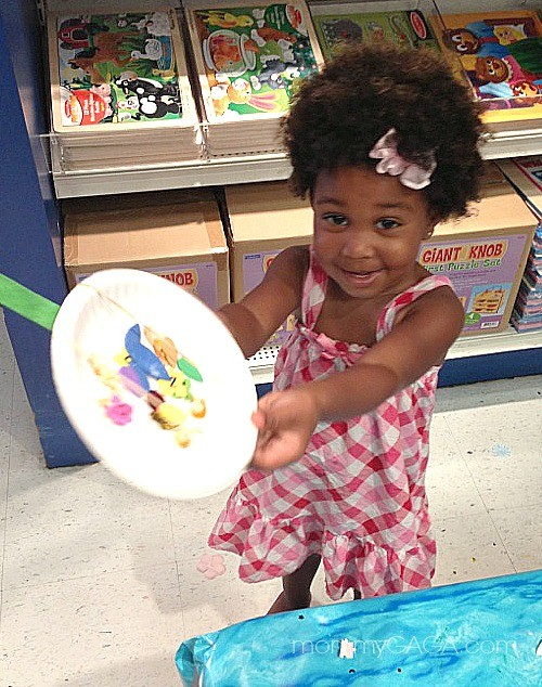 little girl and craft at Lakeshore Learning Stores