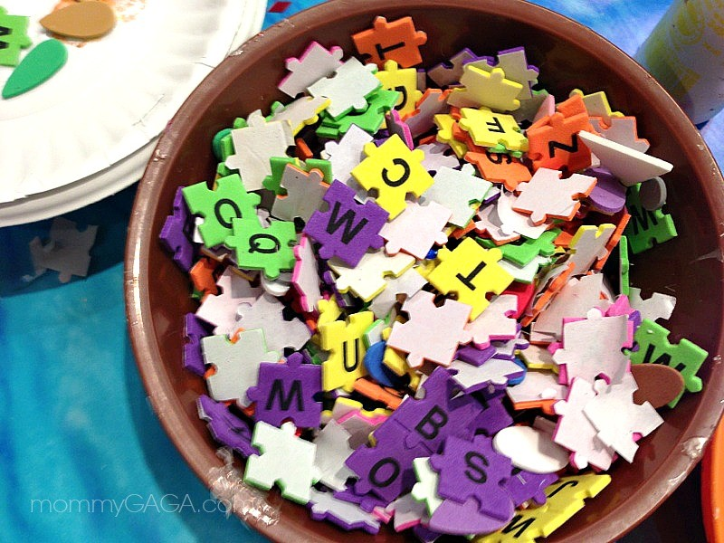 puzzle piece letters, Lakeshore Learning