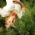 woman in grass field, Flickr, Sydigill